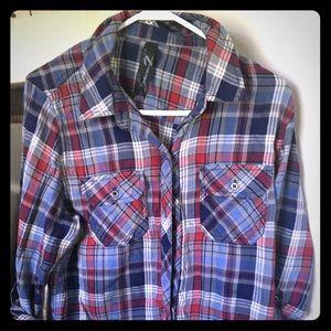 Seven flannel button down